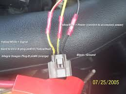how to put integra gauges in an 88 91 civic honda tech 92 95 civic vss wiring plug pictured wiring color change but position is the same for many years generations of honda acura vss units