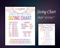 Sim Size Chart Sizing Chart Size Chart Size List Size Poster Sizing Chart Poster Instant Download Home Office Approved Color Fonts