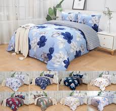 soft fl quilt duvet cover set flat