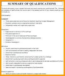 Resume Qualifications Wikirian Com