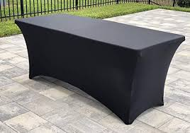 Event Table Reusable 6 Spandex Table Cover By Squattra Event Table Linen Rectangle Banquet Tablecloth Ideal For