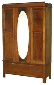 consigned vintage english inlaid mahogany armoire with oval mirror traditional armoires and wardrobes antique english mahogany armoire furniture