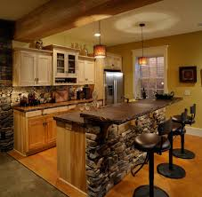 rustic kitchen island table. Kitchen Furniture. Citrine Rustic Come With Wooden Built In Island And Chocolate Countertop Table