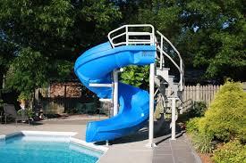 In ground pools with slides Ladder Vortex Inground Pool Slide Half Tube And Staircase blue Pool Supplies Canada Pinterest Vortex Inground Pool Slide Half Tube And Staircase blue Pool