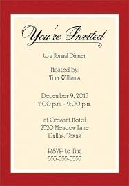 Formal Business Invitation Business Dinner Invitation You Get Ideas From This Site