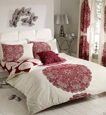 ... Bedroom:Gorgeous Bedroom Curtain And Bedding Sets Dramatic Red Touches  Presented By Bedroom Curtains And ...