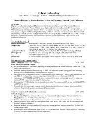 Network Engineer Resume Objective Examples Sample Doc Cisco