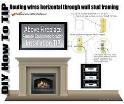 tv above fireplace where to put cable box wiring over fireplace diagrams schematics within how to