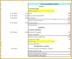 Pro Financial Statements Excel Statement Sample Forma