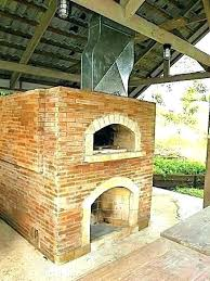outdoor fireplace and pizza oven insert combo diy
