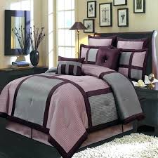 jets bedding set modern color block purple and gray comforter set luxury linens 4 throughout queen