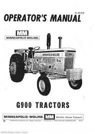 minneapolis moline shop service farm tractor manual minneapolis moline mpls moline g 900 s509 owners manual