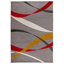 modern waves design area rug 7 10 x