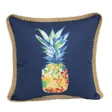 display reviews for pineapple blue outdoor decorative pillow