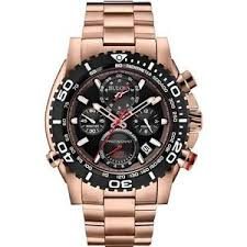 new bulova 98b213 precisionist chronograph rose gold tone men 039 image is loading new bulova 98b213 precisionist chronograph rose gold tone