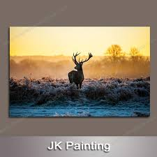 Small Picture Cheap Animal Deer Artwork for Home Decor Paintings Without