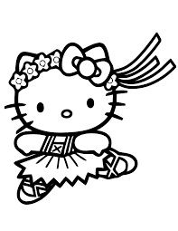 Free printable coloring pages hello kitty coloring sheets. Ballet Coloring Pages Hello Kitty Coloring4free Coloring4free Com