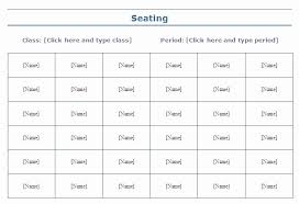 Seating Charts Templates For Classrooms Lovely 5 Seating