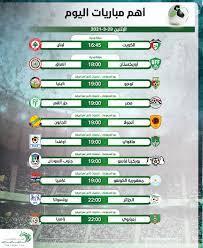 أهم مباريات اليوم الإثنين 29-3-2021.. والقنوات الناقلة لها - التيار الاخضر