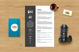 Photoshop Resume Template Free Psd Word Adobe Download Cv Grey