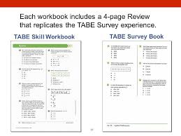 Survey Test Book Answers Tabe Skill Workbooks Each 32 Page Workbook Contains Ppt Video