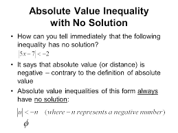 absolute value inequality with no solution