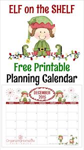 Calendar Planner Printable 2015 Elf On The Shelf Free Printable Planner Calendar