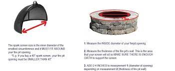 Pivot Fire Pit Spark Screen 304 Stainless Or Carbon Steel