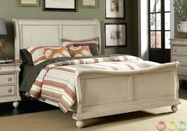 White Rustic Traditional Bedroom Furniture With Sleigh Bed Engaging ...