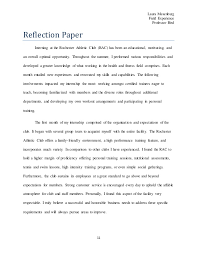 reflection essay on internship reflecting about your experience career and professional