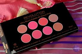 makeup revolution london ultra blush palette all about pink review swatches in india