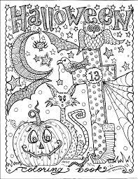 Coloriage Halloween Adulte Citrouille Chat Hibou Dessin