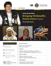 Bringing VA Benefits Home event in your hometown.