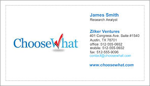 Vistaprint Business Card Template