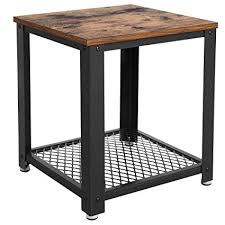 Industrial furniture table Desk Image Unavailable Amazoncom Amazoncom Vasagle Industrial End 2tier Side Table With Storage