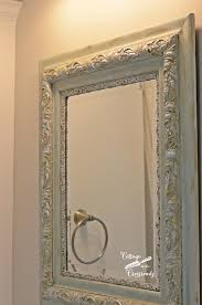 diy painted mirror frame. Painted Mirror Frames   Cottage At The Crossroads Diy Frame P