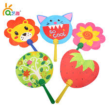 8 PCs children Handmade diy blank paper fan/ Kids Child drawing toys  kindergarten suppliers/ drawing board for educational toys-in Drawing Toys  from Toys ...