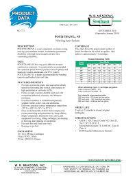 Pourthane Ns Non Sag Joint Sealant Manualzz Com