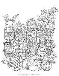 Happy Easter Coloring Pages Free Printable Adult Page Download It In