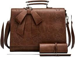 sosatchel women briefcase pu leather laptop messenger shoulder bag handbag fit 1