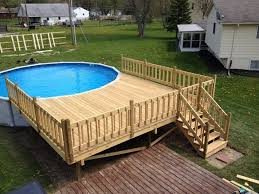 circular pool deck most above ground