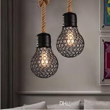 Купить Оптом Чердак Форма Лампы Веревка
