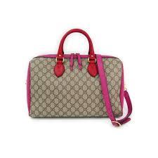 gucci 409527. gucci 409527 women\u0027s gg supreme boston bag red,pink,beige
