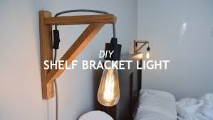 DIY SHELF BRACKET LIGHT