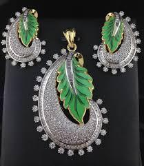 american diamond green pendant set indian kundan ic and gold jewelry in atlanta and