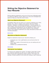 Sample Resume Objectives Statements Sample Resume Objective Statements Ideal Resume Opening