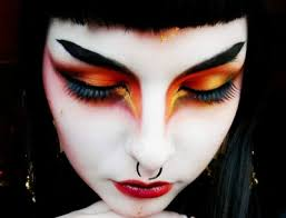 autumn inspired dramatic goth makeup tutorial by stuliae laus