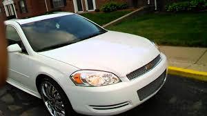 2013 white LT impala on 22 inch rims - YouTube