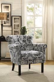paisley furniture. Homelegance Barlowe Accent Chair - Black Paisley Print Furniture A
