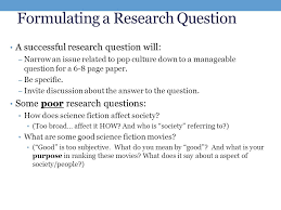 STARTING YOUR RESEARCH Week     Preparing to Write Your Research     Improved Research questions